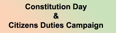 Constitution Day & Citizens Duties Campaign